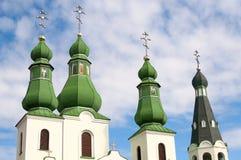 ortodoxt tempel för kupoler arkivbilder