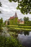 Ortofta Castle And Moat Stock Photo