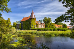 Ortofta castle and moat Royalty Free Stock Photo