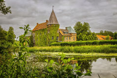 Ortofta castle sweden. Image of Ortofta castle, with its moat and public gardens. Scania, Sweden Stock Photo