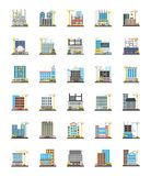 Ortogonala symboler för kommersiellt material till byggnadsställning vektor illustrationer