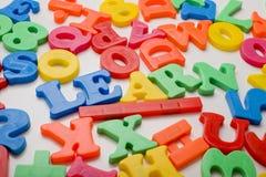 Ortografia di plastica della lettera del giocattolo   Immagine Stock Libera da Diritti