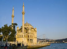 Ortokoy Moschee Stockfotos