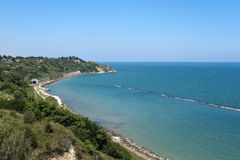 Ortona (Abruzzi, Italy), the coast of Adriatic sea Stock Image