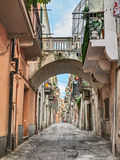 Ortona, Abruzzo, Italy: alley in the old town Royalty Free Stock Photos