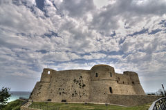 Ortona castle. Scenic view of Ortona castle with cloudscape background, Chieti, Abruzzo, Italy Stock Photos