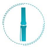 Ortopedia e traumatology do logotipo Ícone traumático do sinal das junções com ossos Símbolo de Rengen Fotos de Stock Royalty Free