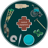 Ortopedyczny wyposażenia signboard Zdjęcia Royalty Free