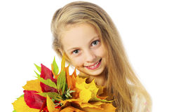 Ortrait of autumn girl Stock Images