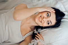 Ortrait of a cute young woman Stock Photo