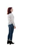 Ortrait di giovane donna dello studente Fotografia Stock