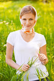 Ortrait Of Young Woman Wearing Royalty Free Stock Photos