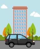 Ortsverkehr und Fahrzeuge Lizenzfreies Stockbild