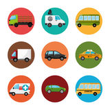 Ortsverkehr und Fahrzeuge Stockfotografie