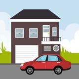 Ortsverkehr und Fahrzeuge Lizenzfreies Stockfoto