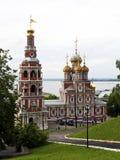 Ortthodox kyrka av nativityen av vår Lady Arkivbild