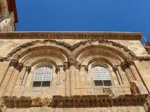 ORUBBLIG STEGE, KYRKA AV DEN HELIGA GRIFTEN, JERUSALEM, ISRAEL Arkivfoto