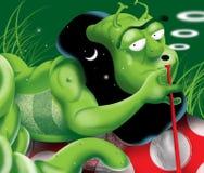 Oruga verde ilustración del vector