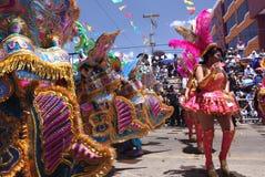 Oruro Carnaval stock foto's