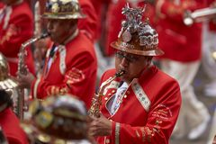 Oruro Carnaval in Bolivië Stock Fotografie