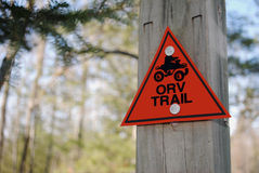 ORV Trail Sign Stock Photography