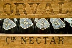 Orval, Бельгия - 8-ое мая 2015: Пиво Trappist Orval стоковое изображение