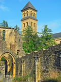 Orval Abbey (Belgium). Medieval Orval Abbey (Abbaye Notre-Dame d'Orval) in southern Beglium, known for production of trappist beer and a specific cheese Royalty Free Stock Image