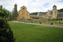 Orval Abbey Church Royaltyfria Foton