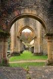 Orval abbotskloster i höst Royaltyfria Bilder