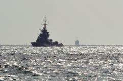 Сorvette för Israel Navy - Sa'ar 5 gruppmissil Royaltyfria Bilder