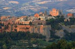 Orvieto中央寺院,翁布里亚,意大利 免版税库存图片