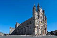 Orvieto大教堂在意大利左边的 图库摄影