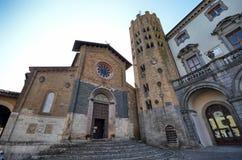 Orvieto, Úmbria, o 30 de agosto de 2015 Della Repubblica da praça Fotos de Stock Royalty Free