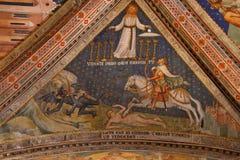 Orvieto - интерьер Duomo , красивый собор в Orvieto, Умбрия, Стоковые Изображения