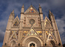 Orvieto cathedral. The 'Duomo' cathedral of the history town of Orvieto, halfway between Rome and Florence in Italy Stock Photos