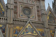 Orvieto Cathedral, building, cathedral, place of worship, byzantine architecture. Orvieto Cathedral is building, byzantine architecture and gothic architecture stock photos