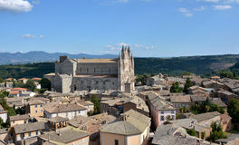 Orvieto cathedral and countryside panorama Stock Photos