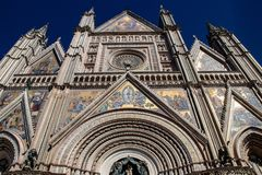 The Orvieto Cathedral stock photography