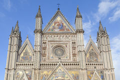Orvieto cathedral facade Royalty Free Stock Images