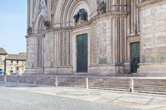 Orvieto cathedral facade Stock Photography