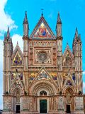 Orvieto Cathedral Facade Front Exterior view. Orvieto Cathedral Facade Frontal Exterior view stock photo