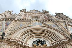 Orvieto Cathedral, historic site, building, landmark, architecture. Orvieto Cathedral is historic site, architecture and byzantine architecture. That marvel has royalty free stock photos