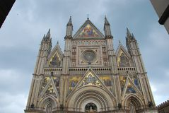 Orvieto Cathedral, landmark, building, cathedral, place of worship. Orvieto Cathedral is landmark, place of worship and church. That marvel has building royalty free stock images
