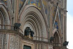 Orvieto Cathedral, medieval architecture, building, cathedral, place of worship. Orvieto Cathedral is medieval architecture, place of worship and byzantine royalty free stock photos