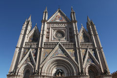 Orvieto Cathedral in Orvieto, Italy. Royalty Free Stock Image