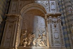 Orvieto - Duomo interior. , beautiful Cathedral in Orvieto, Umbria, stock photography