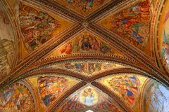 Orvieto - Duomo interior. , beautiful Cathedral in Orvieto, Umbria, stock image