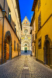Orvieto, Duomo katedralna kościelna fasada. Włochy zdjęcie stock