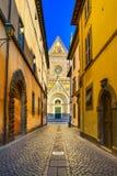 Orvieto, fachada da igreja da catedral do domo. Itália Foto de Stock
