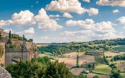Orvieto-Felder Stockfotografie